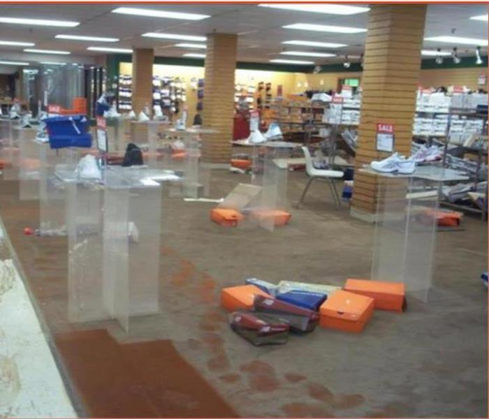 Flood Waters Ruin Department Store Before