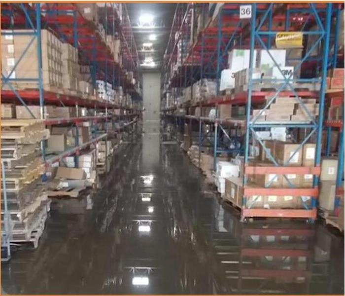 Water Takes Over Warehouse